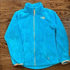 Girls North Face Zip-up Fleece